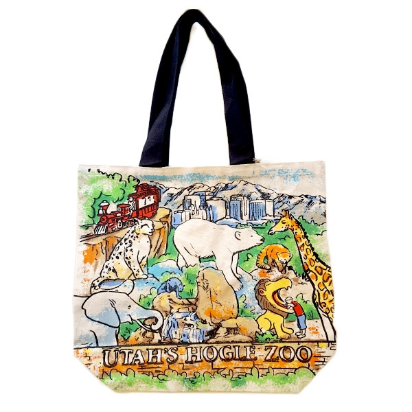 UTAH'S HOGLE ZOO SHOPPER TOTE