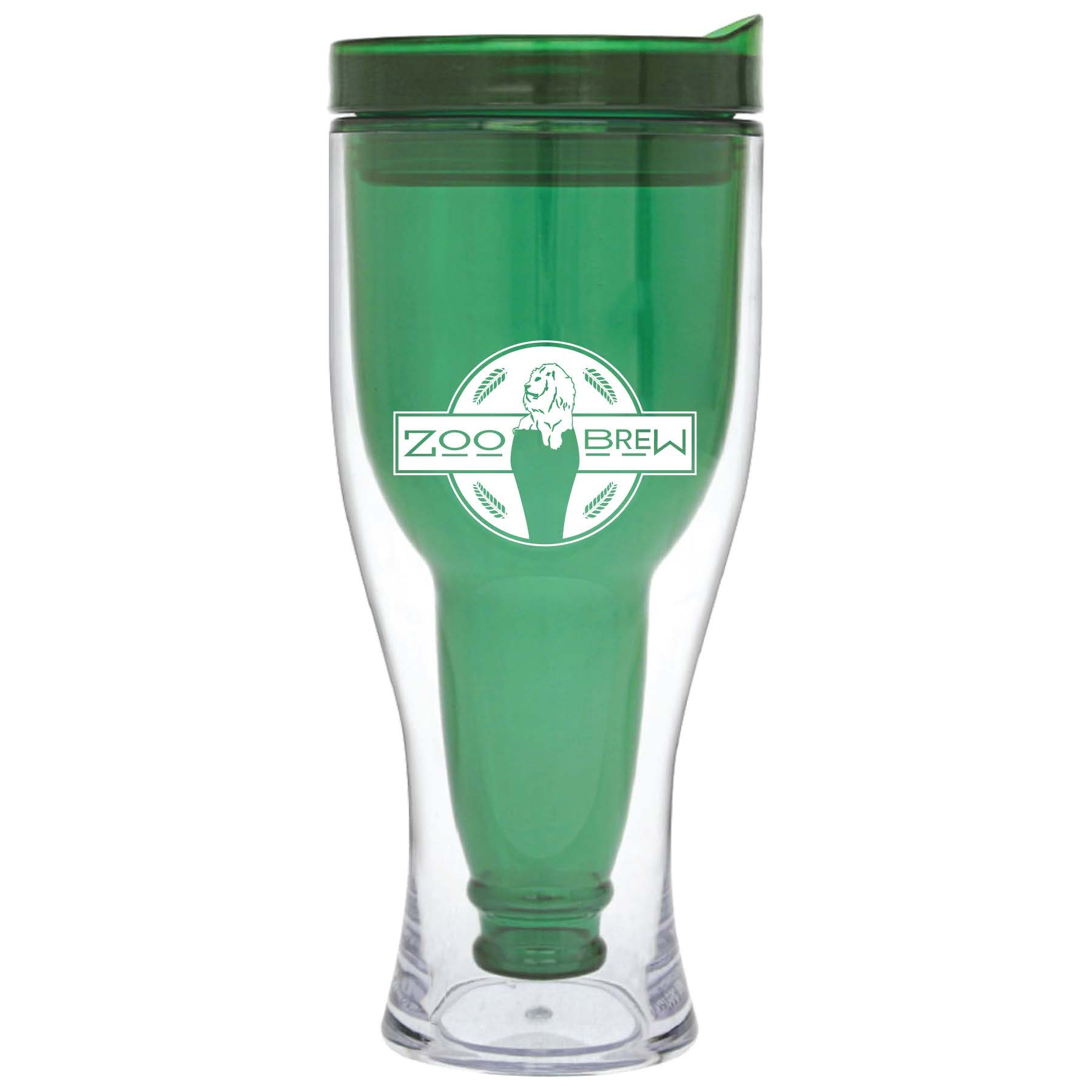 BEER TO GO ZOO BREW TUMBLER GREEN