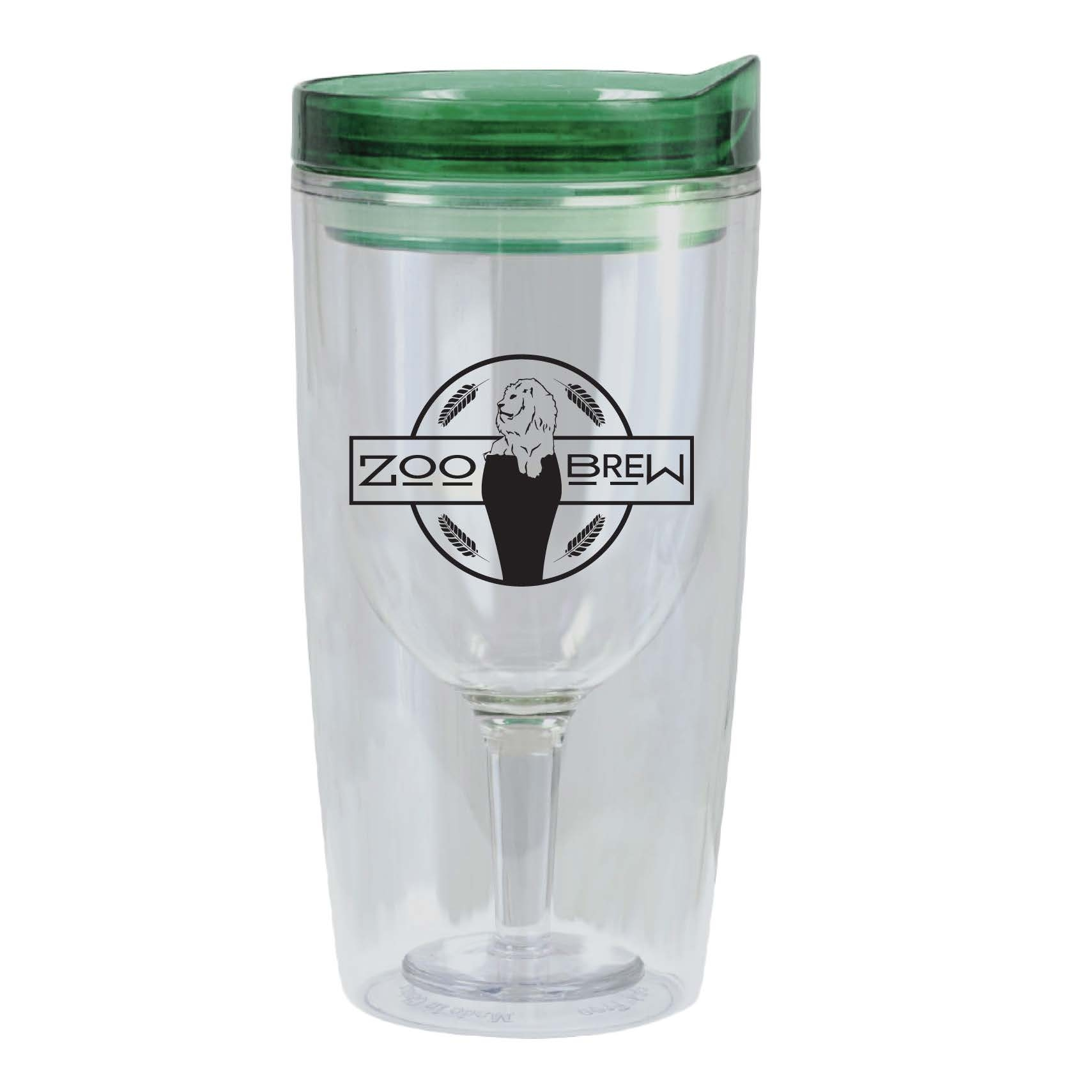 WINE TO GO ZOO BREW TUMBLER GREEN