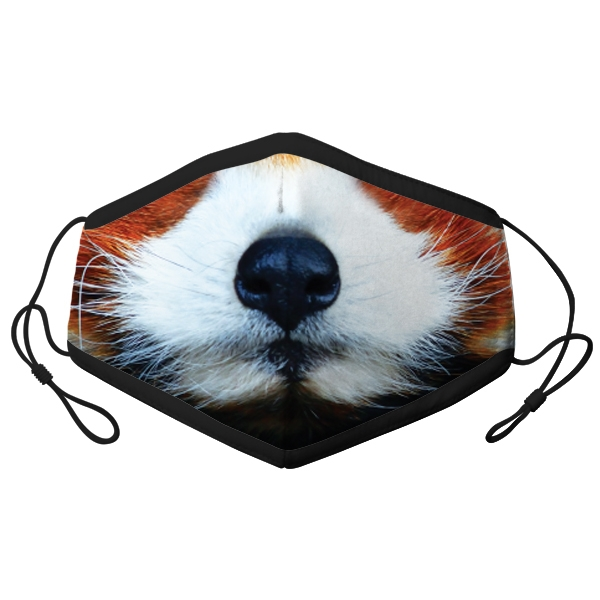 ADULT ADJUSTABLE RED PANDA FACE MASK