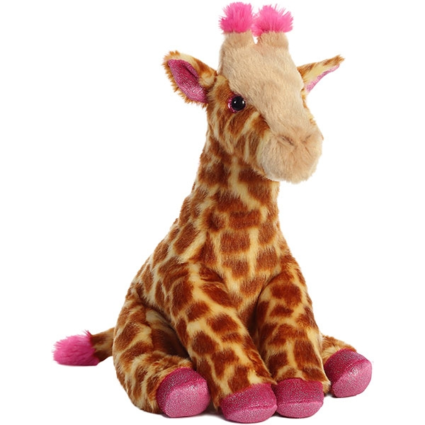GIRAFFE WITH PINK ACCENTS PLUSH