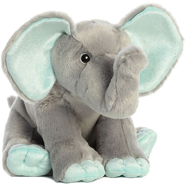 ELEPHANT WITH MINT ACCENTS PLUSH