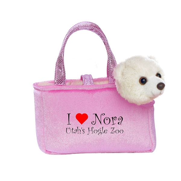 PINK PURSE PET I HEART NORA