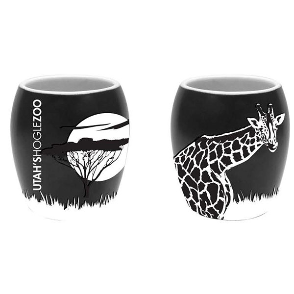 ETCHED GIRAFFE SHOT GLASS