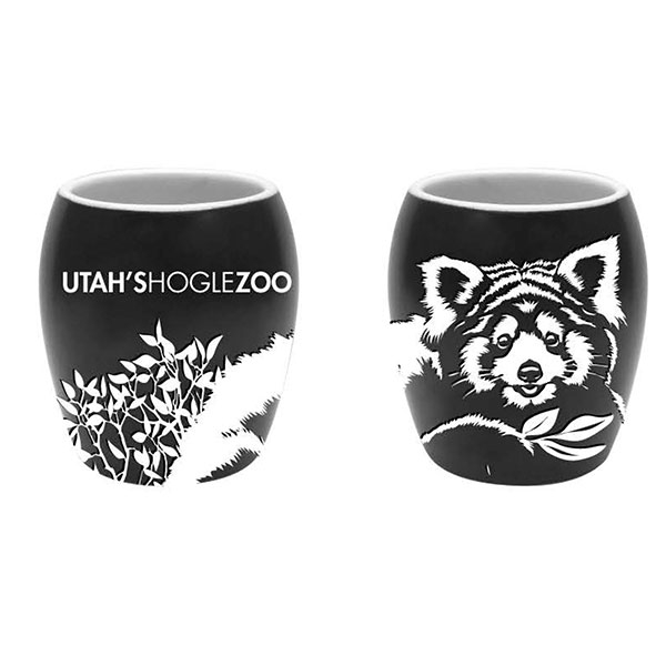 ETCHED RED PANDA SHOT GLASS