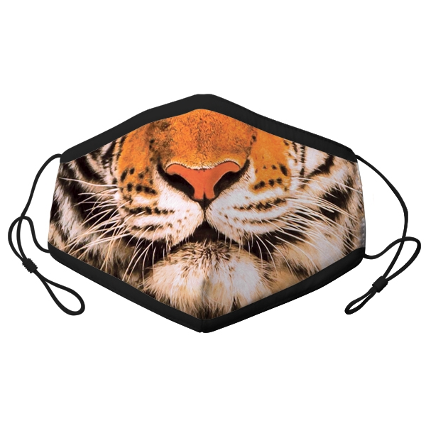 ADULT ADJUSTABLE TIGER FACE MASK