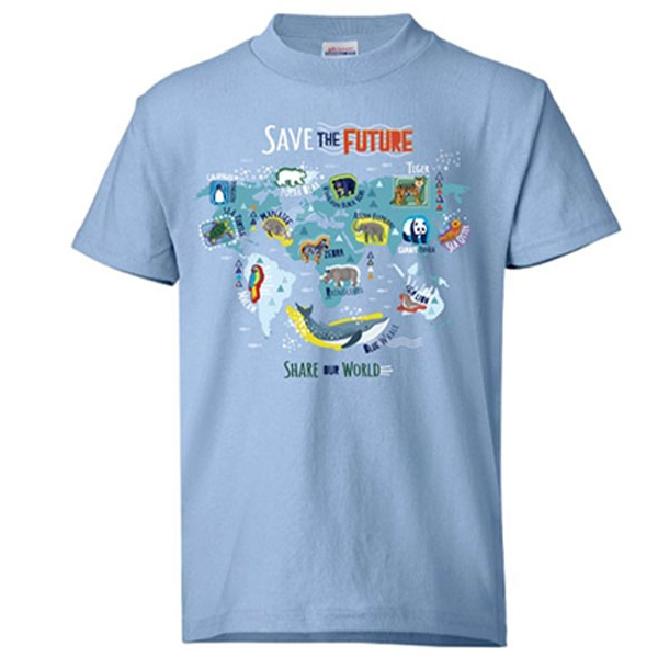 SAVE THE FUTURE, SHARE THE WORLD TEE - YOUTH